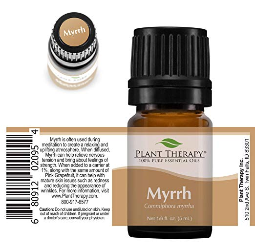 Plant Therapy Myrrh Essential Oil | 100% Pure, Undiluted, Natural Aromatherapy, Therapeutic Grade | 5 milliliter (1:6 ounce) 2