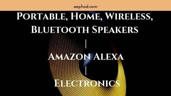 Portable, Home, Wireless, Bluetooth Speakers | Amazon Alexa | Electronics