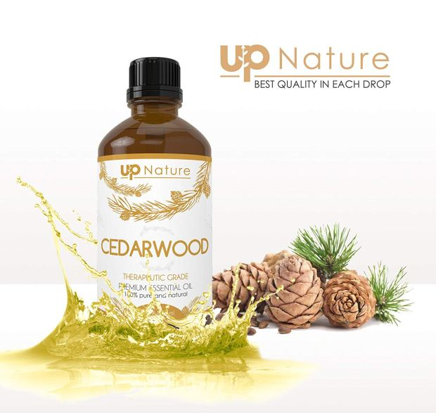 Cedar wood Essential Oil 4 OZ - For Hair Growth, Healthy Skin, Closets, Insects and Relaxing Sleep - 100% Pure & Natural Cedar Wood, Undiluted & Unfiltered 4