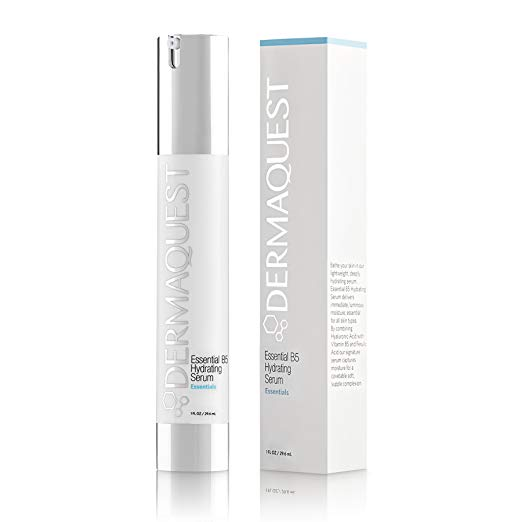 DermaQuest Essential B5 Hydrating Serum with 40% Hyaluronic Acid & Ferulic Acid - Intensive and Lightweight Moisture, 1 fl. oz.