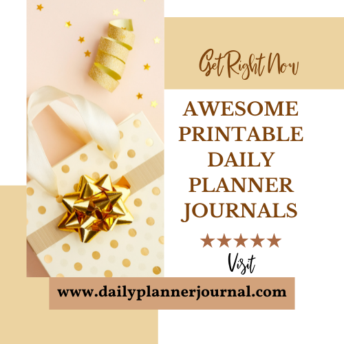 Awesome Printable Daily Planner Journals - Aephod Website Banner Image