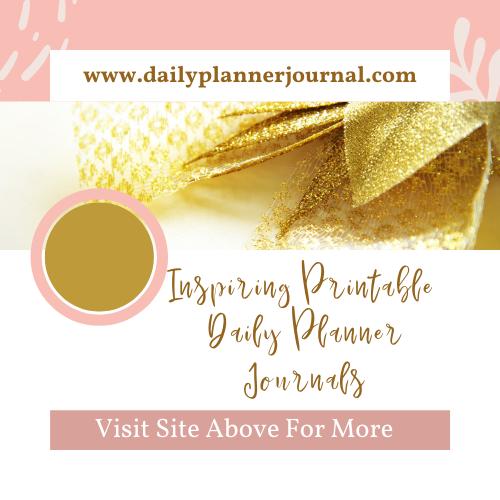 Inspiring Printable Daily Planner Journals - Aephod Website Banner Image